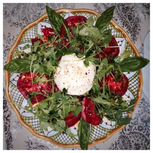 Burrata with local tomatoes